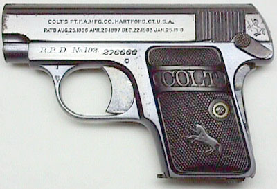 Colt Model N .25 marked R.P.D. No. 102