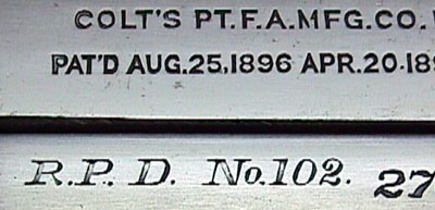 Close-up of the PD Inscription