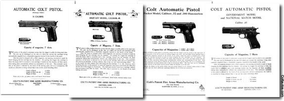Colt Factory Instruction Sheets