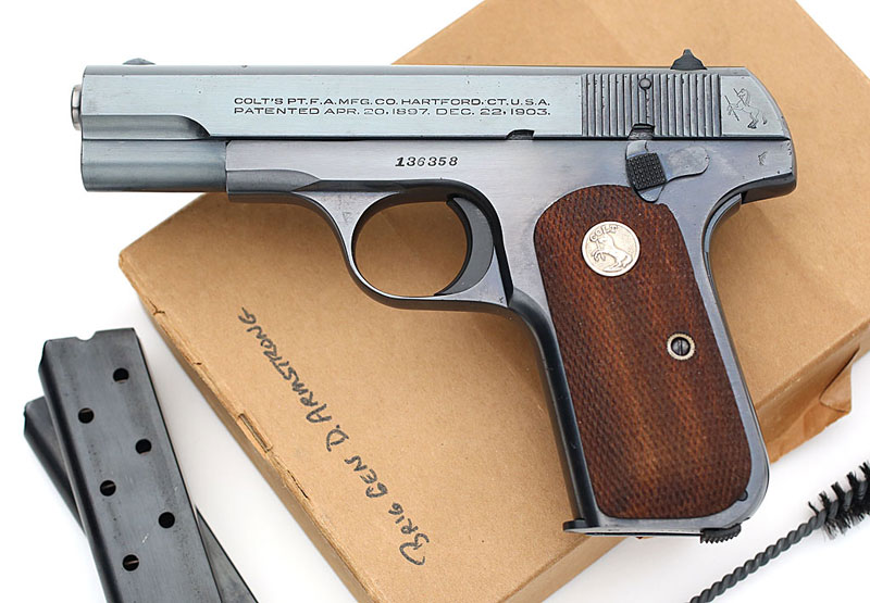 Colt Model 1908 .380 ACP issued to Brig. Gen Donald Armstrong